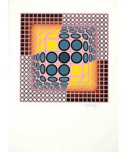 Vasarely Victor Genge (Siebdruck, handsigniert)