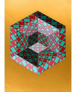 Vasarely Victor Bi-Sanction (Siebdruck, handsigniert)