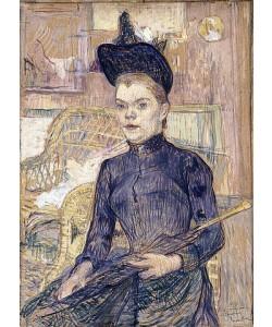Henri de Toulouse-Lautrec, Frau mit schwarzem Hut (Berthe la Sourde). 1890
