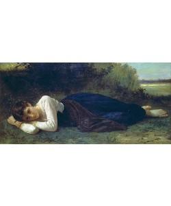 William Adolphe Bouguereau, Ruhende junge Frau. 1880