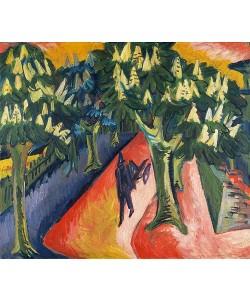 Ernst Ludwig Kirchner, Kastanien-Allee. 1911