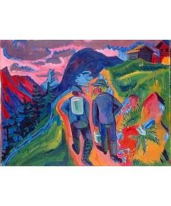 Ernst Ludwig Kirchner, Alpweg nach dem Gewitter. 1923/1924