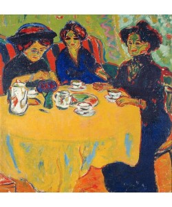Ernst Ludwig Kirchner, Kaffeetafel. 1907
