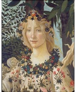 Sandro Botticelli, Detail aus dem Gemälde 'Der Frühling': Kopf der Flora.