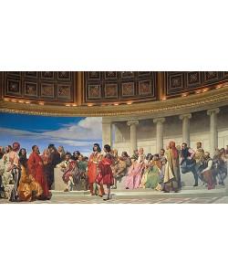Paul Delaroche, Wandmalerei in der Akademie der schönen Künste, Paris. 1841 (Linker Teil)