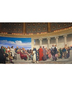 Paul Delaroche, Wandmalerei in der Akademie der schönen Künste, Paris. 1841. (Rechter Teil)