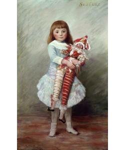 Auguste Renoir, Suzanne mit Harlekinpuppe.