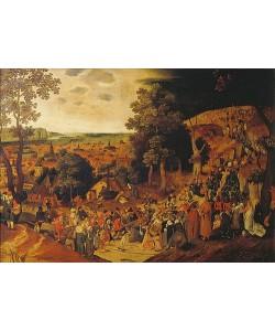 Pieter Brueghel d.J., Christus trägt das Kreuz auf den Kalvarienberg.