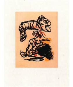 Appel Karel Salto sobre la Cabeza (30) (Aquatinta-Radierung, handsigniert, nummeriert)
