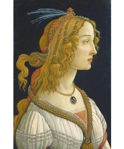 Sandro Botticelli, Weibliches Idealbildnis, angeblich der Simonetta Vespucci. Ca. 1475