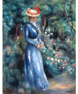 Auguste Renoir, Dame in blauem Kleid im Park von Saint-Cloud. 1899