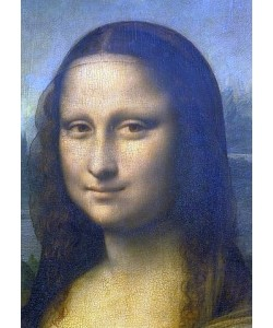Leonardo da Vinci, Mona Lisa. Detail: Kopf. 1503-1506
