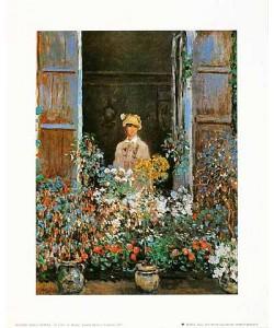 Claude Monet, Camille Monet a`la fenêtre, 1873