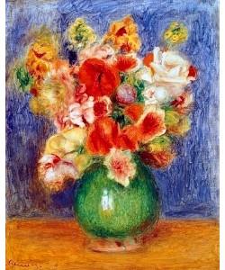 Auguste Renoir, Blumenstrauss in grüner Vase.