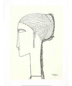 Amedeo Modigliani, Female Head with Earring