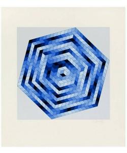 Vasarely Victor Sette (1988) (Lithographie, handsigniert, nummeriert)