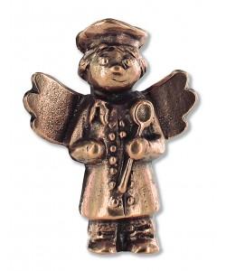 Kerstin Stark, Schutzengel-Koch, aus Bronze, 6 x 4,6 x 2cm