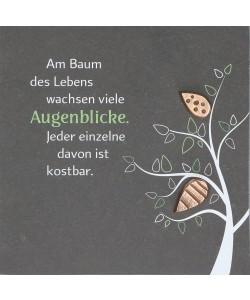 Schieferrelief Baum des Lebens, 14,5 x 14,5cm
