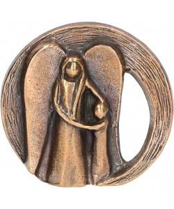 Kerstin Stark, Bronzefigur Dein Schutzengel, 6 x 6,5cm