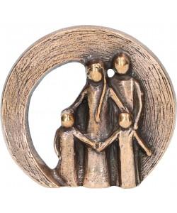 Kerstin Stark, Bronzefigur Familie, 6 x 6,5cm