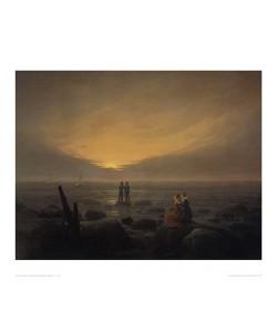 Caspar David Friedrich, Mondaufgang am Meer (lackiert) (Offset)