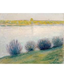 August Macke, Am Rhein bei Hersel. 1908.