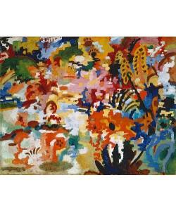 August Macke, Farbige Komposition II. (großer Blumenteppich). 1912