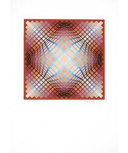 Vasarely Victor Sans Titre 2 (F.V. 3/30) (Lithografie, handsigniert)