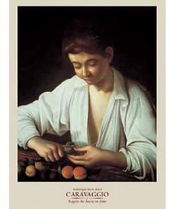 Michelangelo Caravaggio, Ragazzo che sbuccia un frutto (Offset)