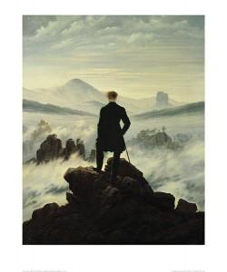 Caspar David Friedrich, Der Wanderer im Nebelmeer (lackiert) (Offset)