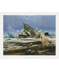 Caspar David Friedrich, Eismeer (lackiert)
