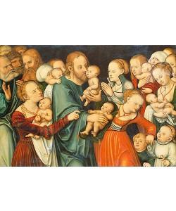Lucas Cranach d.Ä., Christus segnet die Kinder.