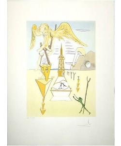 Dali Salvador Hommage Leonardo Rakete 812(1975) (Radierung, handsigniert)