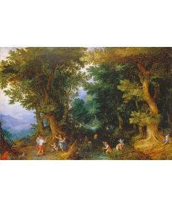 Jan Brueghel d.Ä., Die Verspottung der Latona. 1601.