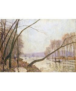 Alfred Sisley, Seine-Ufer im Herbst. 1876.