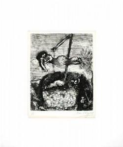 Chagall Marc Das Glück u. d. kleine Mädchen (20) (Radierung, signiert)