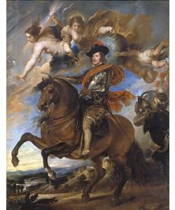 Peter Paul (Schule) Rubens, Reiterbildnis Philipps IV. von Spanien. Um 1645