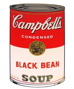 Warhols Sunday B.Morning Edition  Campbell`s Soup - Black Bean (Siebdruck)