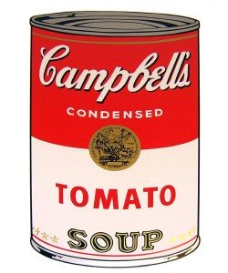 Warhols Sunday B.Morning Edition  Campbell`s Soup - Tomato (Siebdruck)