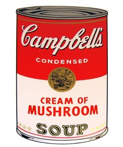 Warhols Sunday B.Morning Edition  Campbell`s Soup - Cream of Mushroom (Siebdruck)