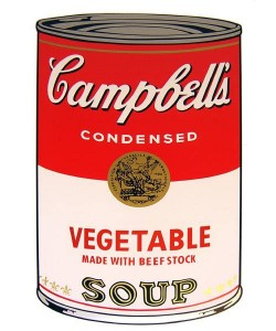 Warhols Sunday B.Morning Edition  Campbell`s Soup - Vegetable (Siebdruck)