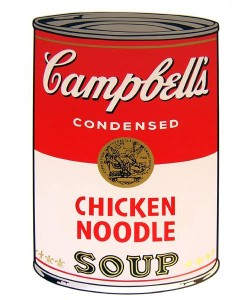Warhols Sunday B.Morning Edition  Campbell`s Soup - Chicken Noodle (Siebdruck)