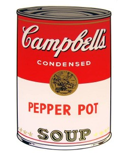 Warhols Sunday B.Morning Edition  Campbell`s Soup - Pepper Pot (Siebdruck)