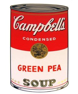 Warhols Sunday B.Morning Edition  Campbell`s Soup - Green Pea (Siebdruck)