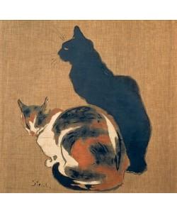 Théophile-Alexandre Steinlen, Zwei Katzen. 1894