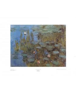 Leinwandbild Claude Monet, Seerosen