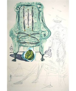 Dali Salvador Imaginations Armchair (20) (Kaltnadel-Radierung auf Lithografie, handsigniert)