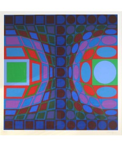 Vasarely Victor Ohne Titel LX (Siebdruck, handsigniert, nummeriert)
