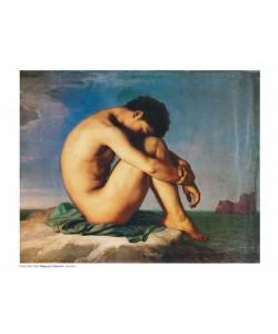 Flandrin Hippolyte, Jüngling am Meeresufer