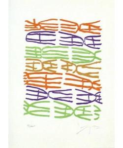 Capogrossi Giuseppe Jean Cassau (20) (Lithografie, handsigniert, nummeriert)